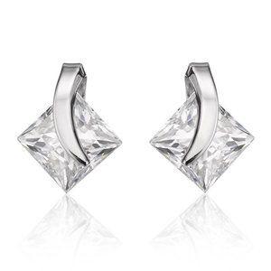 2.5 Ct Princess Cut Diamond Stud Earring 14k White